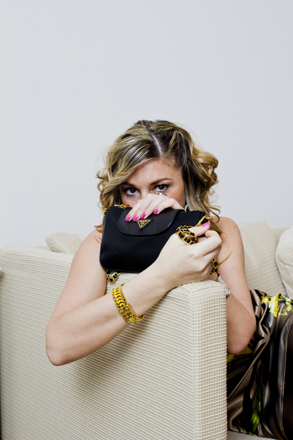 La Fashion Blogger Cristina Lodi con borsa Prada