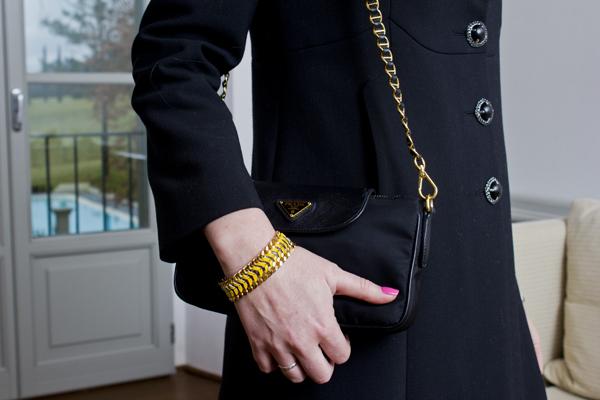 cappotto CristinaEffe e bracciale Ikonika for Zoppini