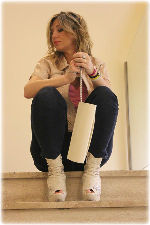La Fashion Blogger Cristina Lodi indossa stivali Loriblu