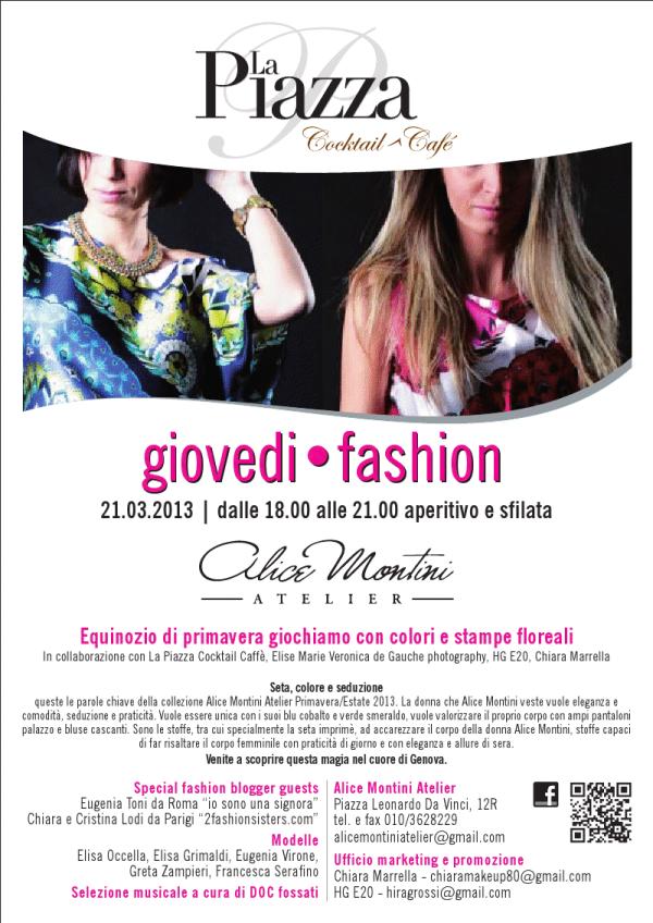locandina 21 marzo | 2 Fashion Sisters | Alice Montini