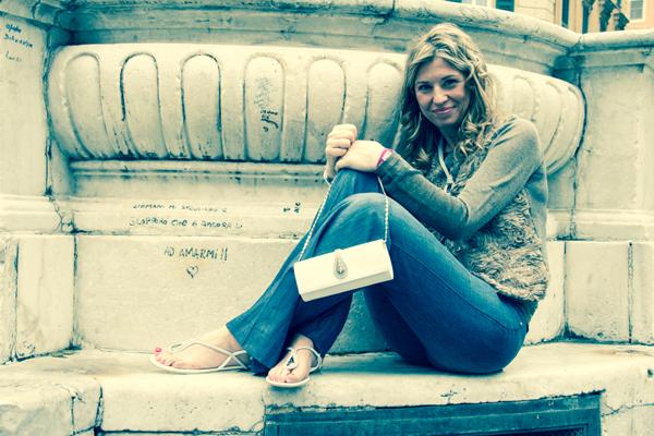 Cristina Lodi indossa jeans Manila Grace