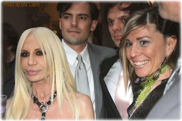 Donatella Versace, la Fashion Blogger Cristina Lodi, gli Haas Brothers