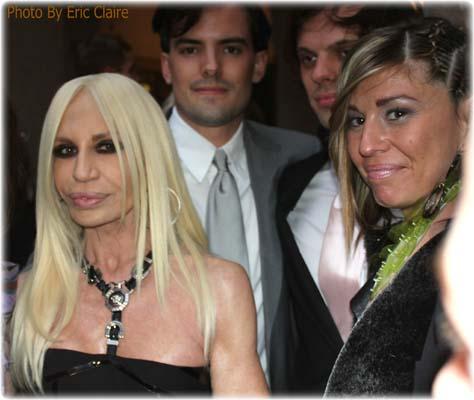Donatella Versace, la Blogger Cristina Lodi, gli Haas Brothers
