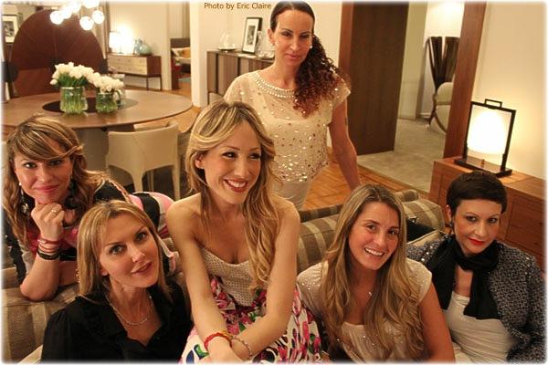 Silvia Slitti con le amiche Cristina Lodi, Marian Bronco,Elena Lucchini, Veronica Zambelli, Laura Buffoli
