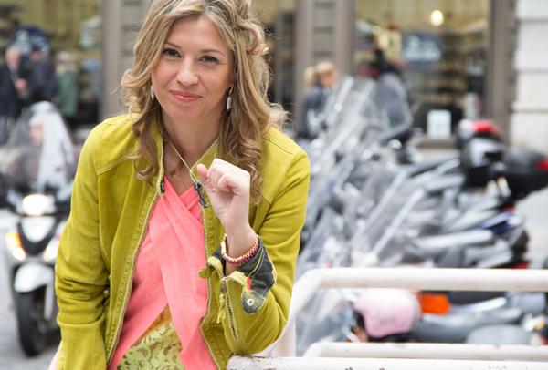La Fashion Blogger Cristina Lodi con canotta CristinaEffe