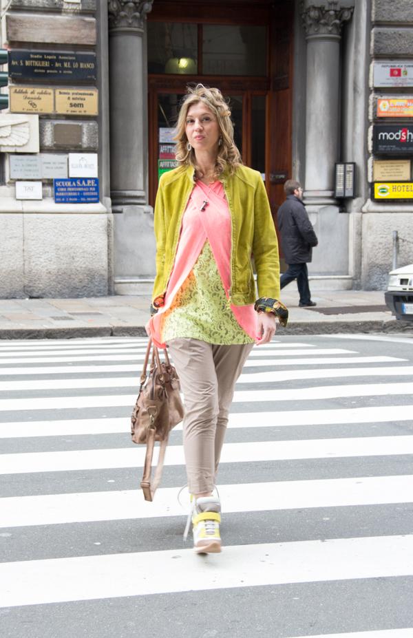 Cristina Lodi con scarpe Elena Iachi