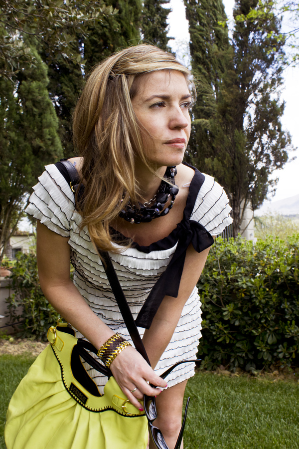 Cristina Lodi con borsa Loriblu