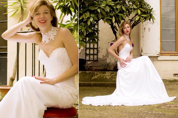 Chiara in abito da sposa per ANAHID SïNSEK COUTURE