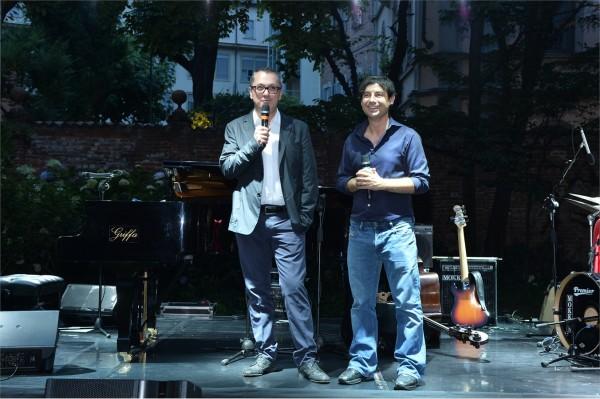 Luca Dini e il senior vice president di Conde' Nast Fedele Usai