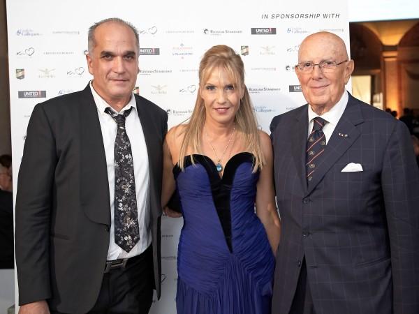 Società Italia 20th anniversary_Roberto Chinello and Tatiana Souchtcheva (Ceo SocietÖ Italia) and Cav. Lav. Mario Boselli (Chairman CNMI)