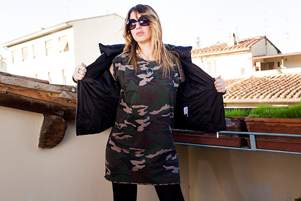 cristina lodi, fashion blog, 2 fashion sisters, abito jijil, occhiali iceberg, giubbotto cristinaeffe