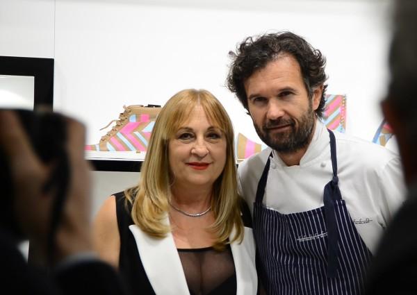LORIBLU-Party_CarloCracco-AnnaritaPilotti-2, Loriblu cocktail party con Carlo Cracco