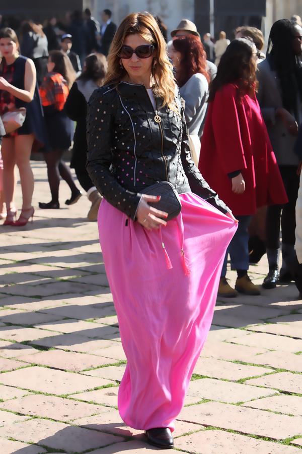 cristina di 2 fashion sisters, gonna  rosa Roberto Cavalli