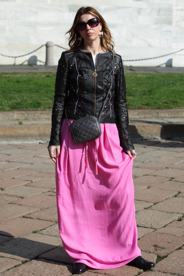 cristina lodi, 2 fashion sisters, class roberto cavalli, gonna Roberto Cavalli