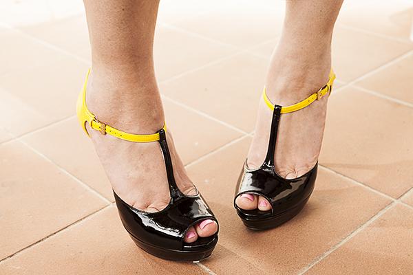 2 fashion sisters, scarpe lori blu