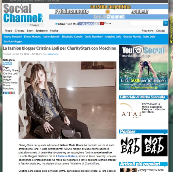 cristina lodi, social channel, charity star