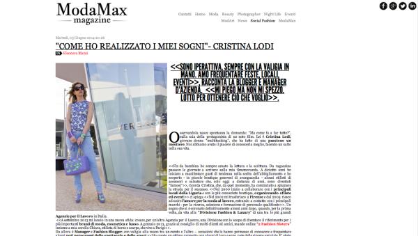 modamax, cristina lodi, fashion blogger