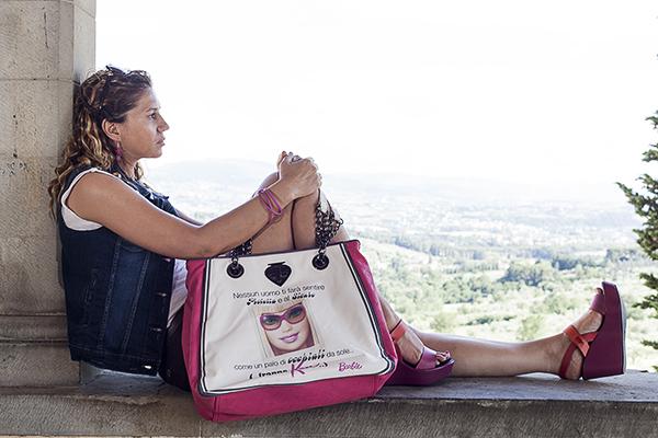 Cristina Lodi, 2 Fashion Sisters, Giubbotto Relish, fashion blogger italia, Borsa Le Pandorine Barbie