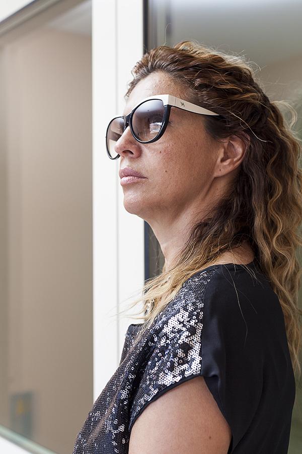 Cristina Lodi, occhiali Hogan, 2 fashion sisters, outly