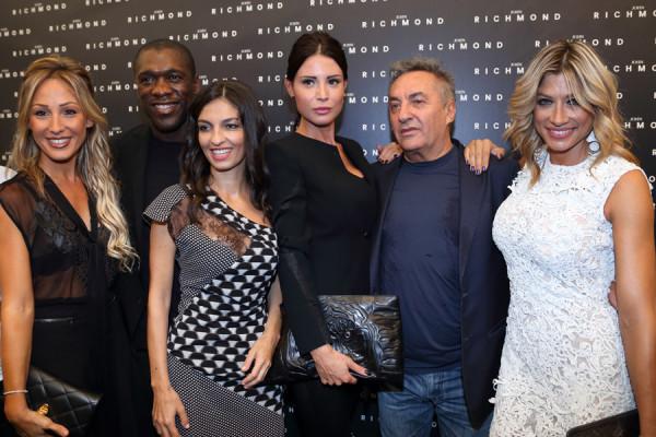 Clarence Seedorf, silvia slitti, alessandra, saverio moschillo, parterre John Richmond, maddalena corvaglia, 2 fashion sisters, mfw