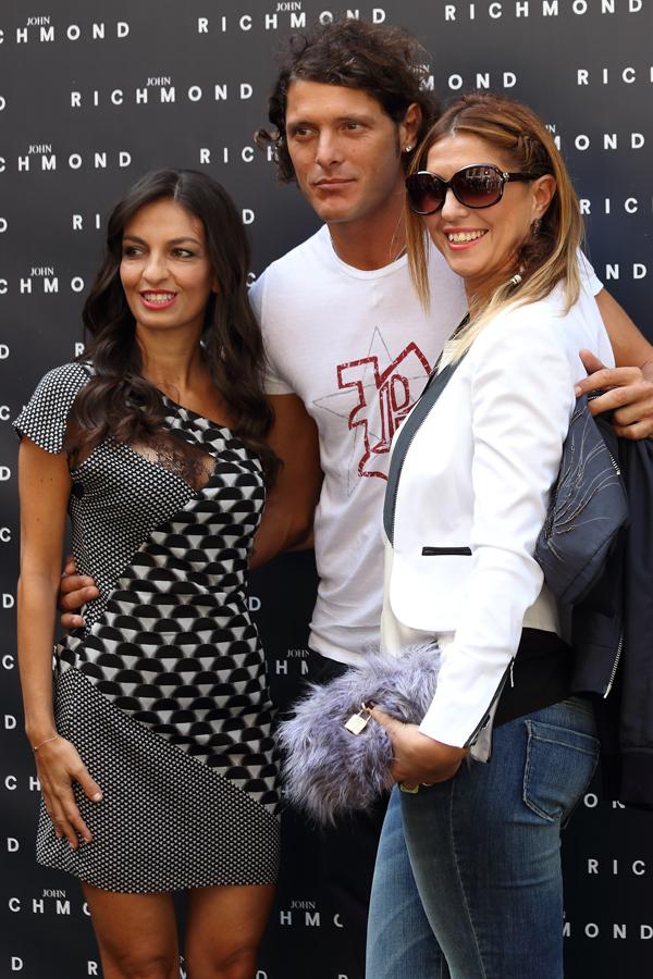 alessandra moschillo, aldo montano, cristina lodi, look john richmond, 2 fashion sisters