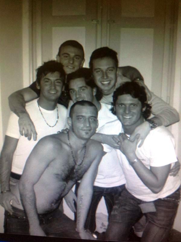 Aldo Montano con gli amici di sempre
