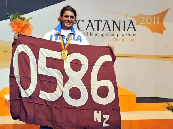 Aldo ottobre 2011 vittoria ai mondiali di Catania