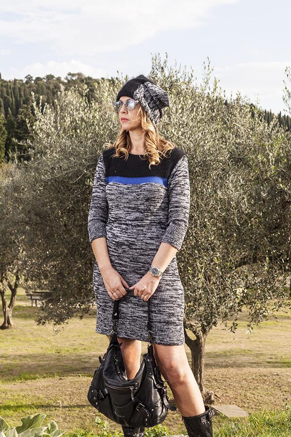 Cristina Lodi, 2 fashion sisters, fashion blogger, abito di lana CristinaEffe, borsa Pierre Balmain