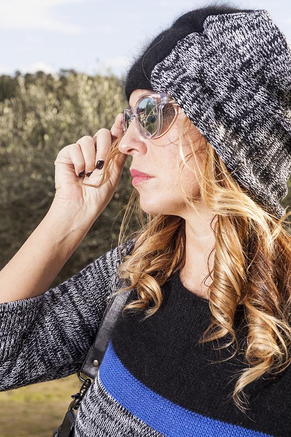 Cristina Lodi, 2 fashion sisters, fashion blogger, abito di lana CristinaEffe, cappello CristinaEffe
