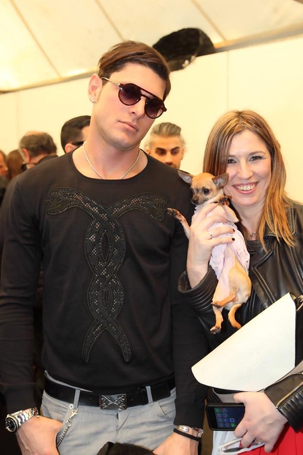 Aldo Montano con l'amica la fashion blogger Cristina Lodi