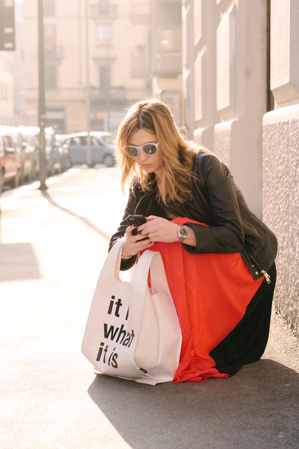 Cristina Lodi,abito ginger glam cristinaeffe, 2 fashion sisters, bag pomikaki, occhiali athina lux