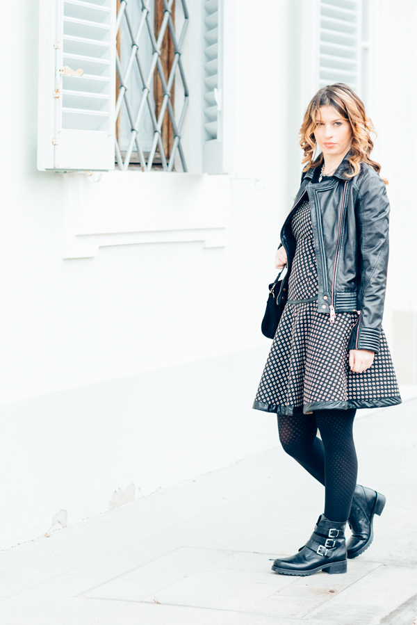 Cristina Lodi, abito CristinaEffe, borsa Loriblu, scarpe Luciano Barachini, bracciale t'incateno