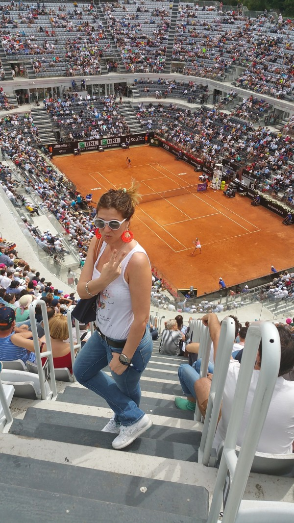 Cristina Lodi, Federer, Internazionali BNL d'Italia 2015, 2 fashion sisters