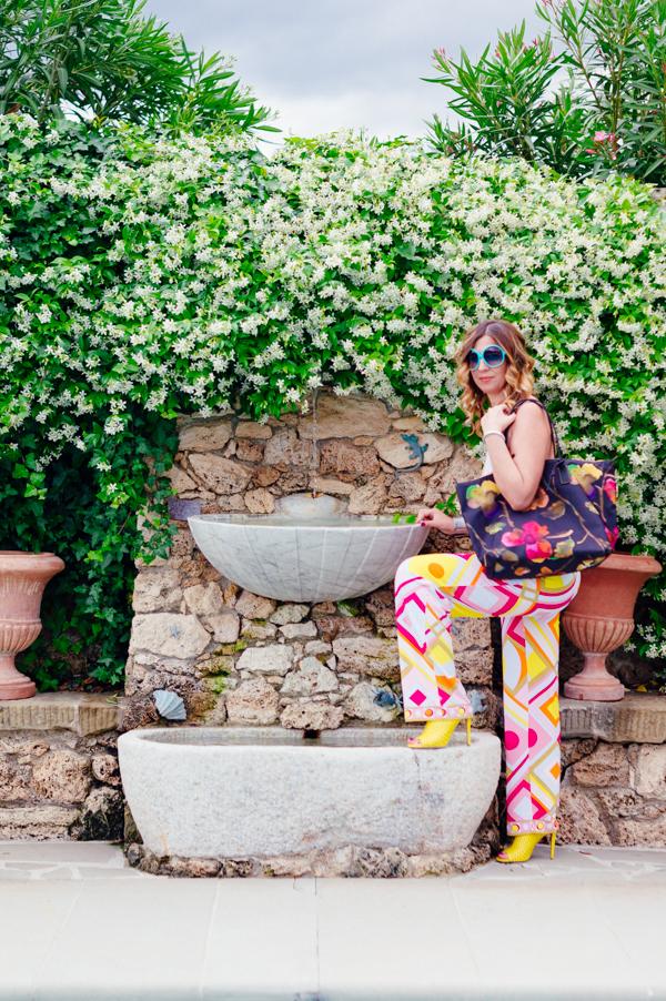 Cristina Lodi per Athina Lux, occhiali color tiffany, 2 fashion sisters, villa olmi