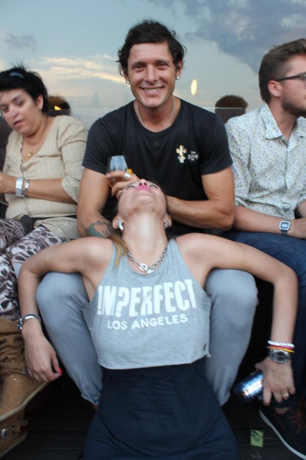 Aldo Montano con l'amica Cristina Lodi per Ezviz, look imperfect, Richmond