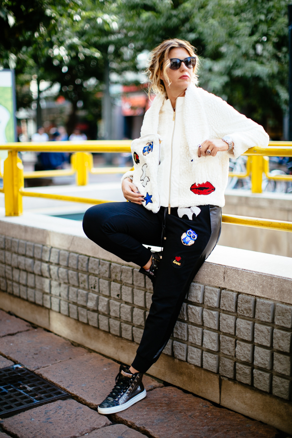 Cristina Lodi, mfw, stokton, pantalone pulp, giacca babylon, cristinaeffe, occhiali emporio armani