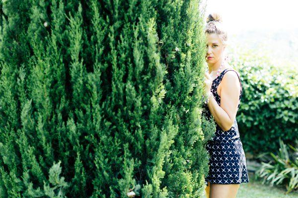 Cristina Lodi, abito corto, abito stelle, abito easy, villa la palagina, travel, colors of california, blogger